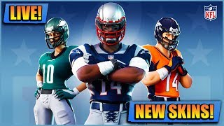 NEW NFL FOOTBALL FORTNITE SKINS // PLAYING WITH SUBS XBOX PS4 AND PC