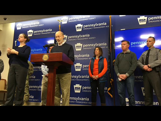 storm will still be a big deal in eastern third of state gov wolf says pennlive com