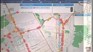 Движение транспорта и пробки: информация онлайн