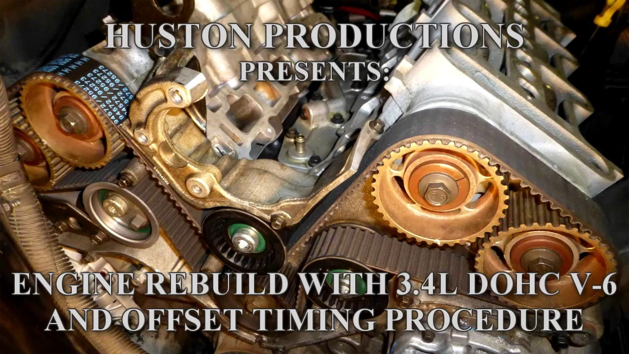engine rebuild with 3 4l dohc v 6 and offset timing procedure youtube rh youtube com