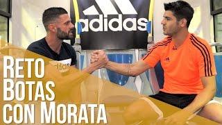 Retamos a Álvaro Morata a adivinar las botas con los ojos vendados