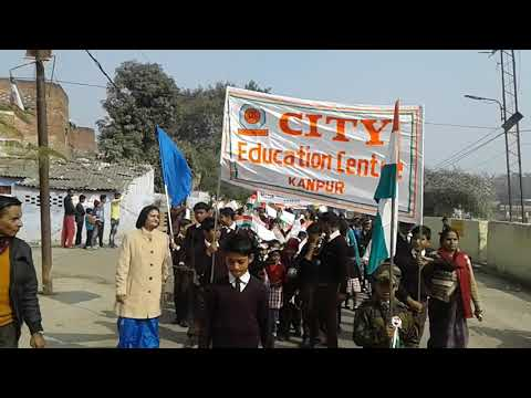 City education center school Republic day march .......