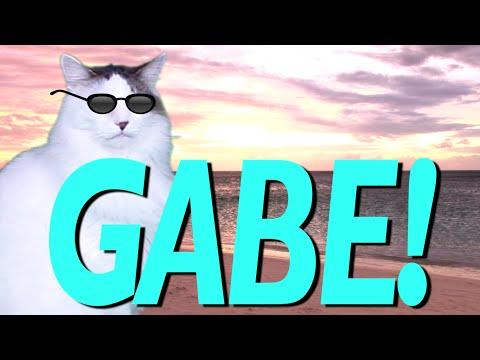 happy birthday gabe HAPPY BIRTHDAY GABE!   EPIC CAT Happy Birthday Song   YouTube happy birthday gabe