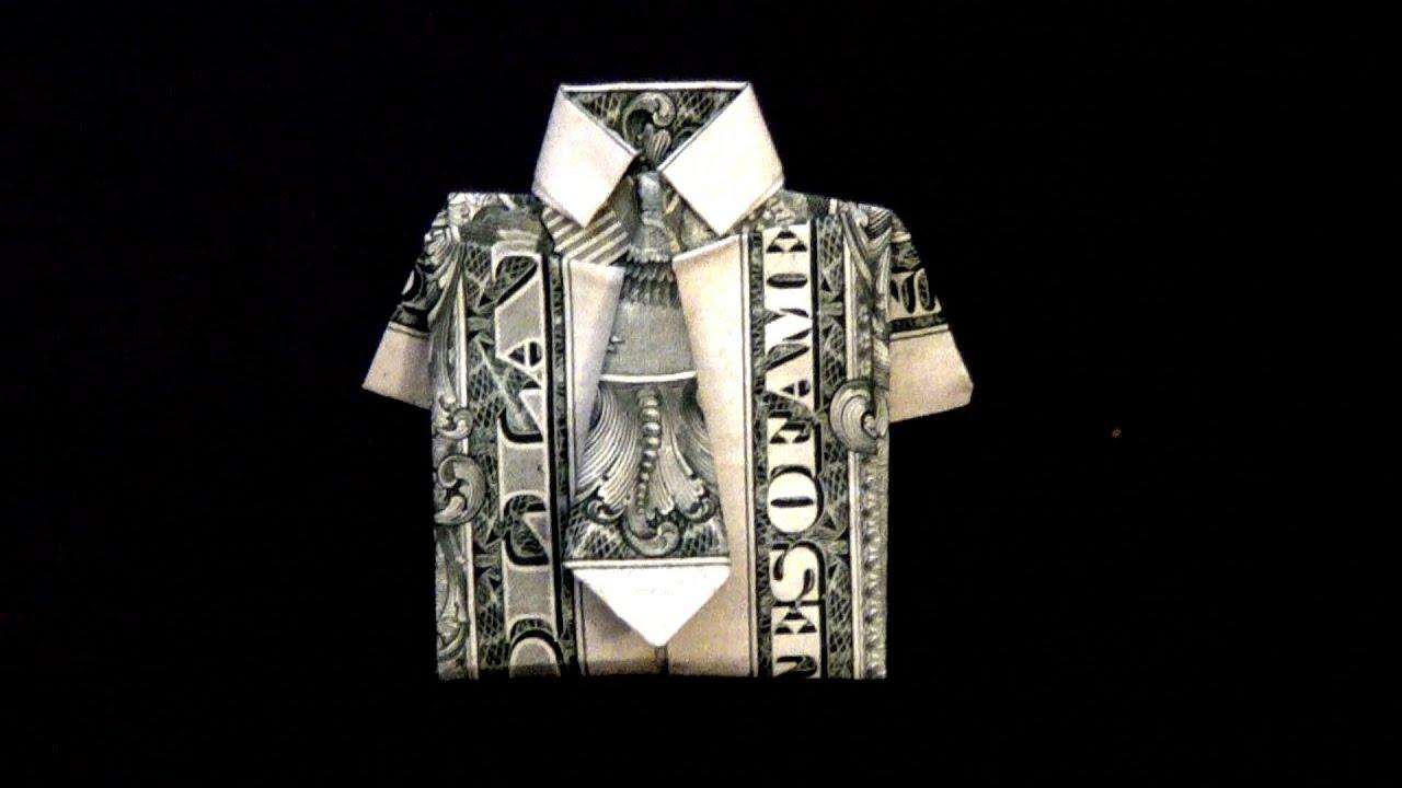 Dollar Origami Shirt Amp Tie Tutorial How To Fold A Dollar