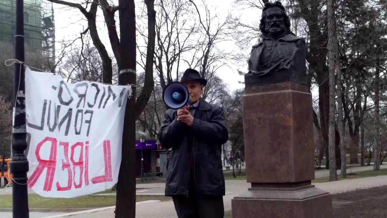Spune că au mărșăluit prin capitală, ignorați de Moldova 1