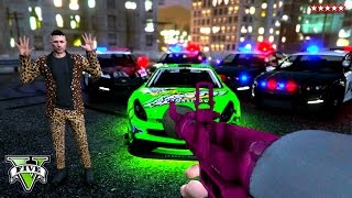 GTA 5 Epic COP CHASE - Playing BUSTED w/ The CREW GTA 5 Online PS4 thumbnail