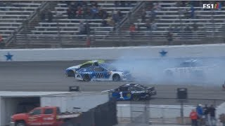 Monster Energy NASCAR Cup Series 2018. Texas Motor Speedway. Multiple Crash
