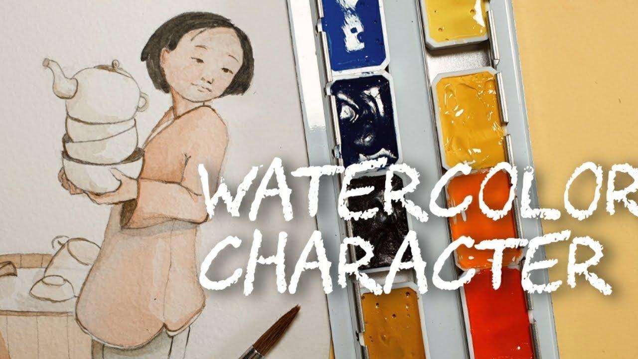 Vẽ nhân vật màu nước | WATERCOLOR  CHARACTER – SIHO Art