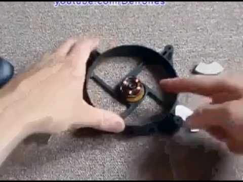 95865072663 FREE ENERGY - Rotore viene attivato tramite 4 calamite e gira all infinito  con moto perpetuo.