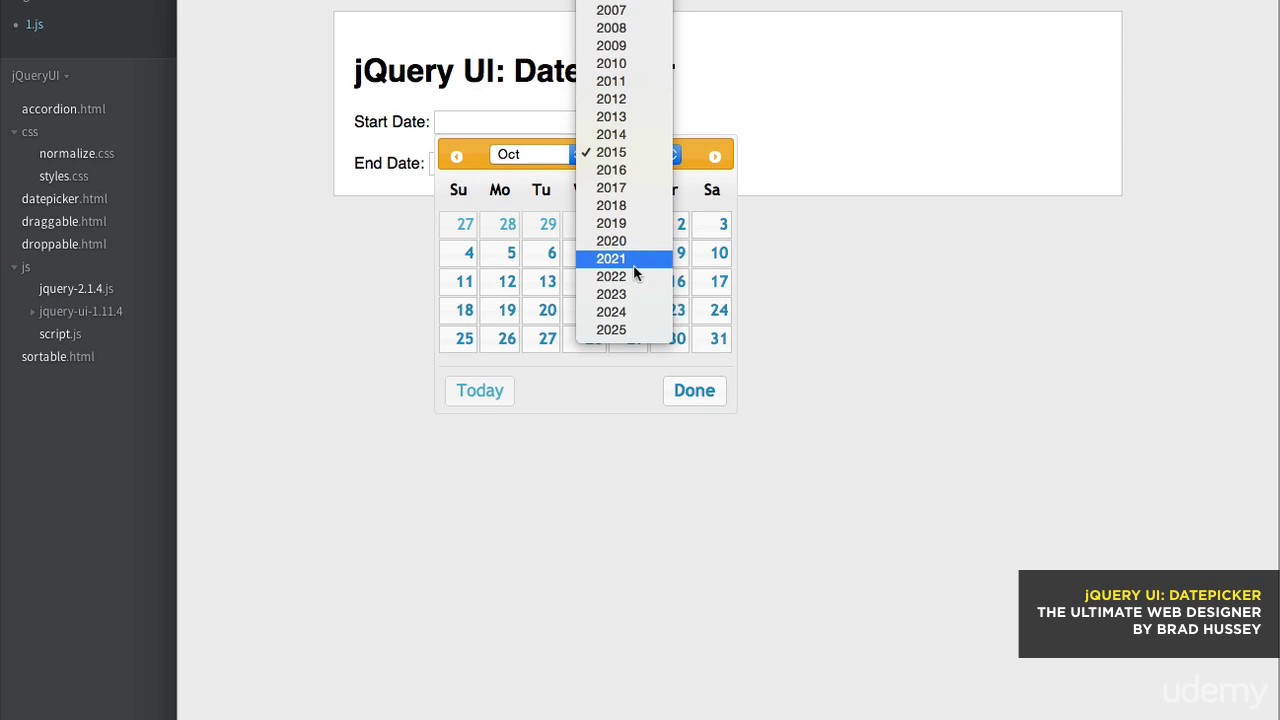 006 jquery ui datepicker youtube 006 jquery ui datepicker ccuart Choice Image
