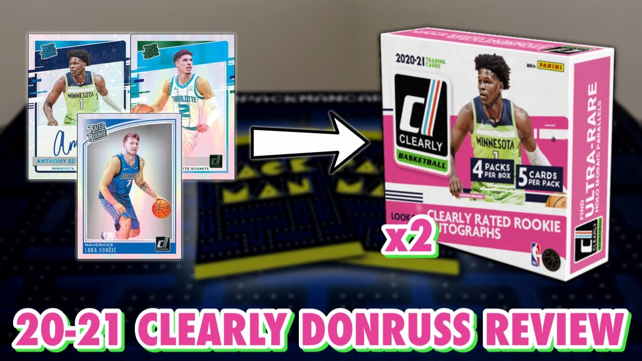 CLEAR CARDS!   2020-21 Panini Clearly Donruss Basketball Hobby Box Review x2
