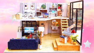 DIY Miniature Dollhouse | HAPPINESS CODE |  Miniature with Jenny ( with Light)