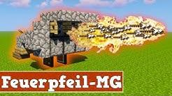 Wie baut man eine automatische Feuerpfeil Kanone in Minecraft   Minecraft Feuerpfeil Kanone bauen