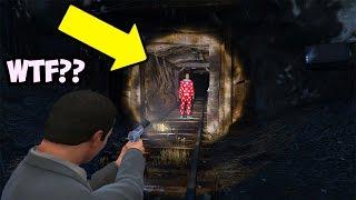 GTA 5 SECRET KILLER CLOWN FOUND IN ABANDONED TUNNEL! (GTA 5 Easter Egg)