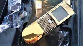 распаковка nokia 8800 sirocco gold edition 2018 реф из Китая - ретро телефон gadget x