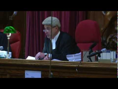 First broadcast from Court of Appeal