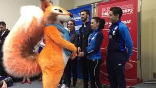 Призёры короткой программы в танцах на льду Чемпионат Европы по фигурному катанию