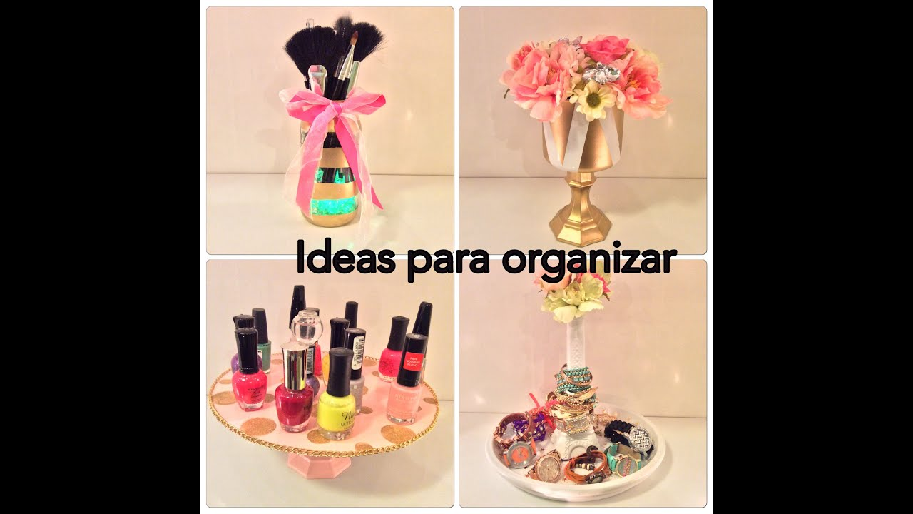 DiY 4 ideas para organizar tu cuarto / manualidades faciles - YouTube