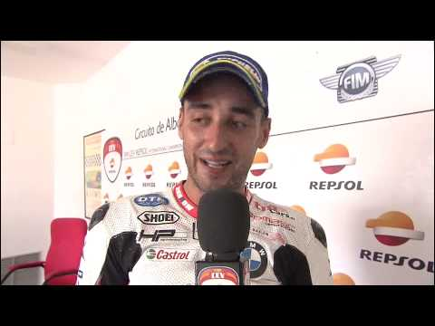 Interview SBK Race 2 Iván SILVA FIM CEV Repsol Albacete 2014