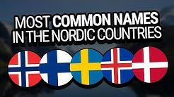 The Most Common Names in the Nordic Countries