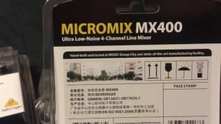 Box Opening: Behringer MX400 Mixer