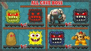 (  ALL CAVE BOSS  )  RED BALL 4 Storms of Bosses Fights (ios/android)