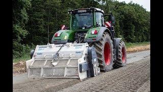 Bodenstabilisierung Stehr SBF 24-2 Bodenfräse und Fendt 1050