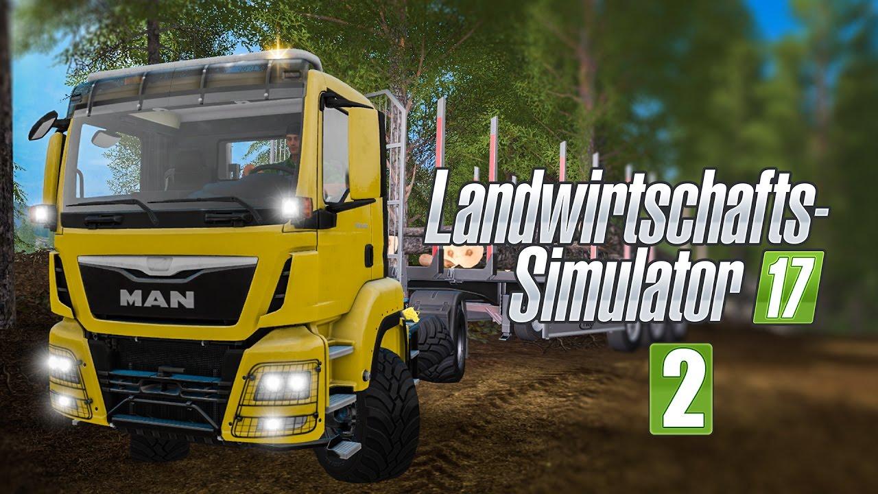 Landwirtschafts Simulator 17 Forst 2 Holz Auf Zug Verladen I