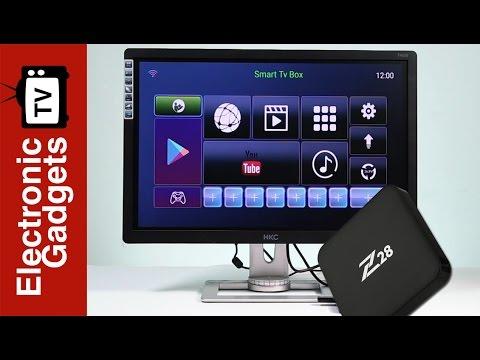 Z28 Android 7.1 TV Box - Rockchip RK3328 CPU, RKMC Media Player, 4K x 2K