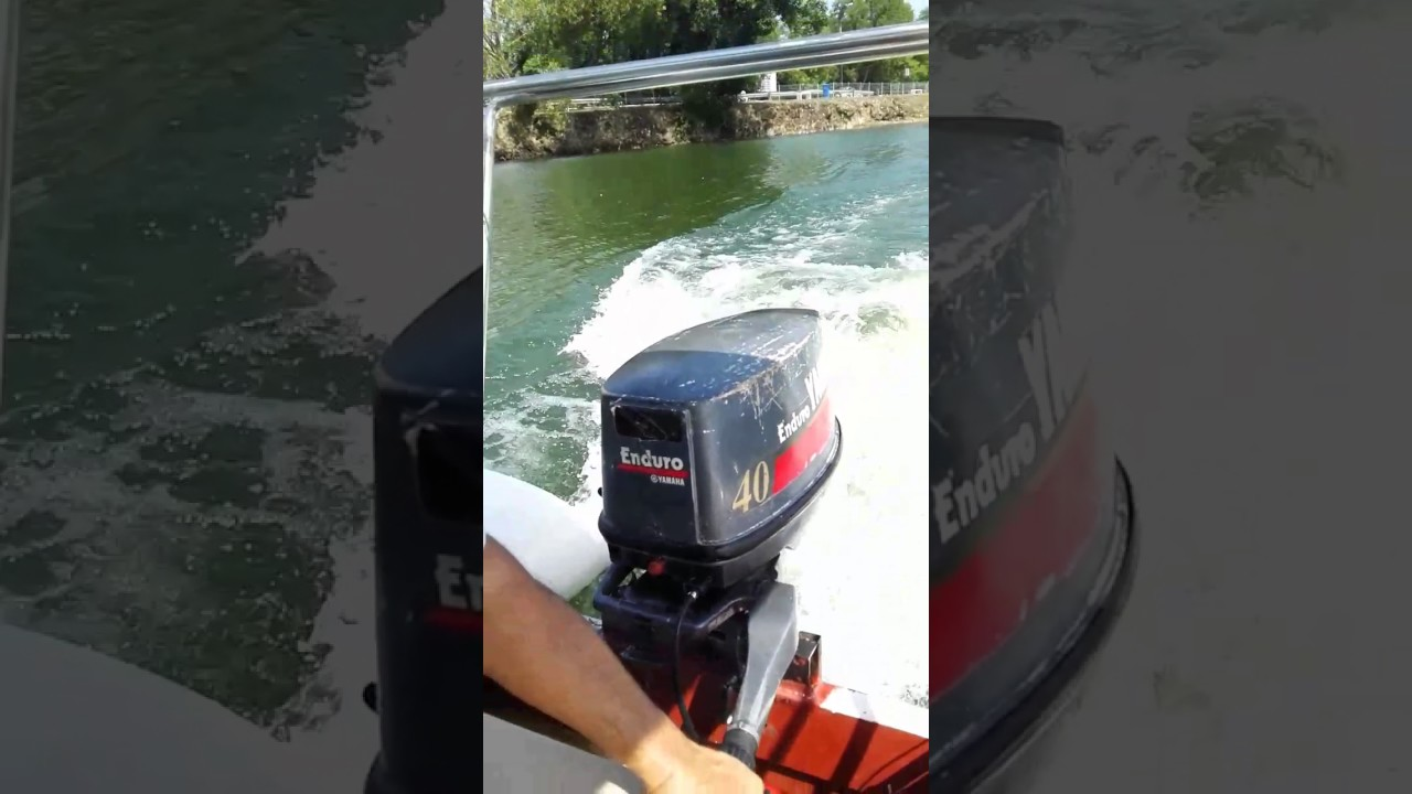 Yamaha 40hp Enduro Test Run On Rib Boat Youtube