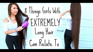 8 Things Girls With Extremely Long Hair Can Relate To thumbnail