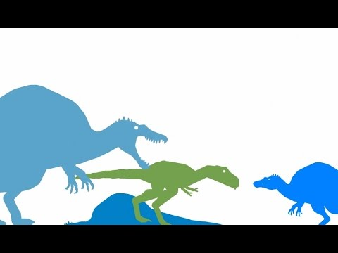 Dinosaurs Cartoons for Kids. Spinosaurus vs Nanotyrannus. Динозавры Мультфильм