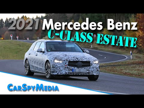2021 Mercedes-Benz C-Class Estate prototype spied testing in germany