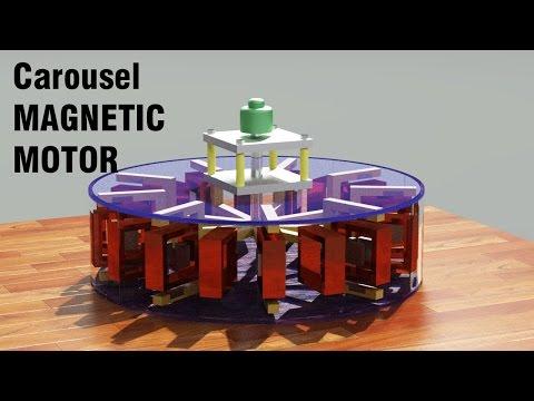 Magnetic Motor 2017 - Carousel Free Energy Generator 2017   Overunity Generator