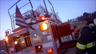 Truck 50 Assists on 59 Chimney Fire *Helmet Cam*