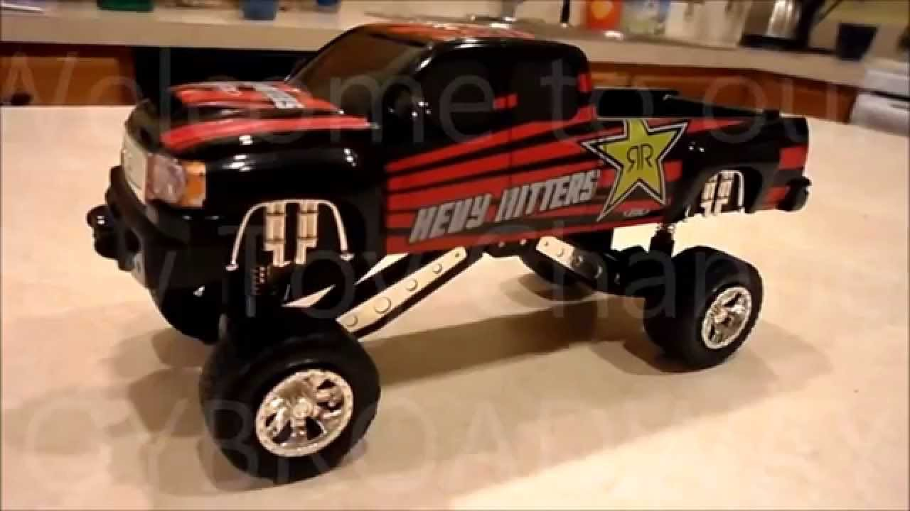 rockstar energy monster pickup truck toy by malibu toys youtube