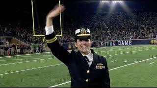 Lt. Jennifer Malherek  recognized at Notre Dame vs. USC