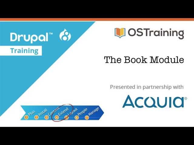 Drupal 8 Beginner, Lesson 44: The Book Module