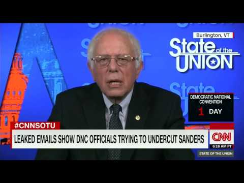 Bernie Sanders responds to leak of emails showing the DNC conspired against him