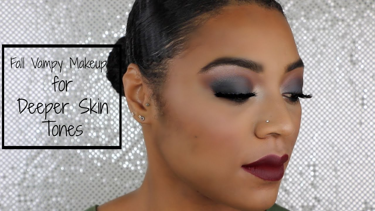 Fall Vampy Makeup for Deeper Skin Tones | The Beauty Pair