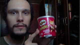 4 банки. Напитки и чипсы. Pringles, Lipton, Red Grass