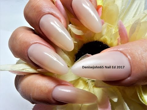 Almond Shaped Natural Nails One Color See How Gel Youtube