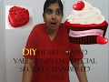 DIY Heart Shaped Valentine's Day Special Secret Chambered Cake- with oreo!- FUN N YUM