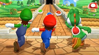 Mario Party 9 MiniGames - Mario Vs Luigi Vs Yoshi Vs Peach (Master Difficulty)