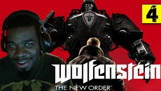 Wolfenstein The New Order Gameplay Walkthrough Part 4 - Asylum - Wolfenstein Gameplay Black Guy