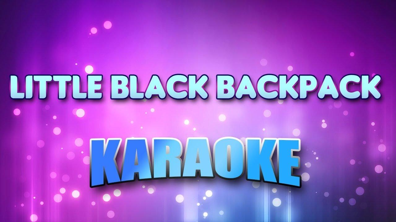 225b049207 Stroke 9 - Little Black Backpack (Karaoke   Lyrics) - YouTube