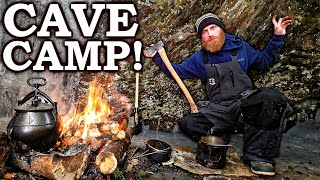 CAVEMAN CAMPING in a CAVE! | Survİving 5 Days 'ON ICE' in VERMONT