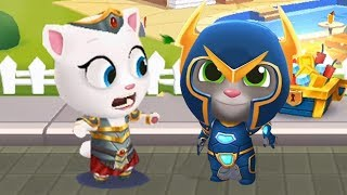 Talking Tom Gold Run Android Gameplay - Hyper Tom Vs Valkyrie Angela