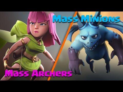 WTH?? Queen Walk Mass Archers, Mass Minions TH9 War Attack | Clash Of Clans