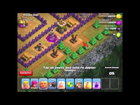 Clash Of Clans: Kitchen Sink #46 - 3 Star With TH 7 Units - (Updated/New May 2014)